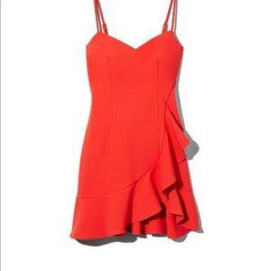 Likely Laverna Ruffle Mini Dress Bittersweet Red